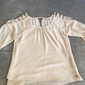 NakedZebra cream blouse